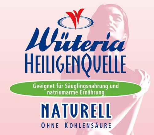 Wüteria Mineralwasser Heiligenquelle Naturell