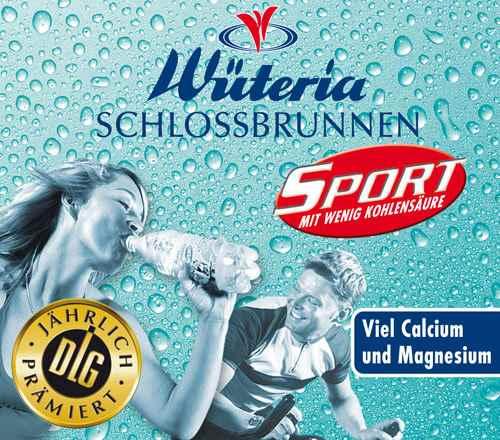 Wüteria Mineralwasser Schlossbrunnen Sport