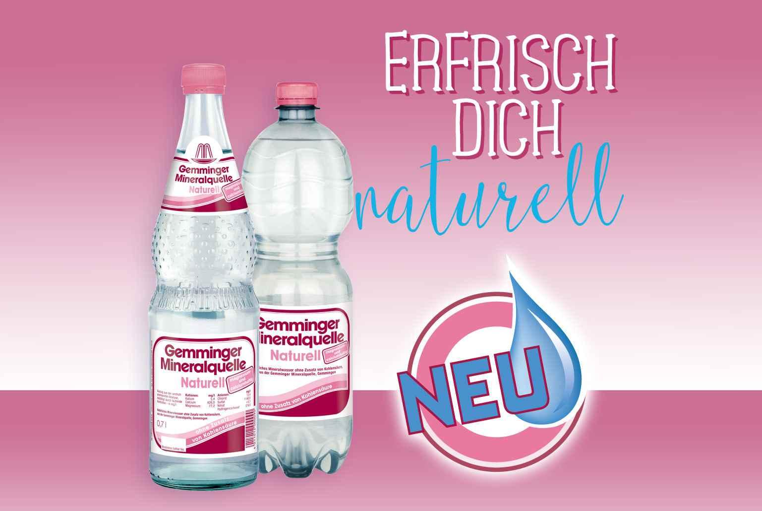 Wüteria Mineralwasser erfrisch dich naturell