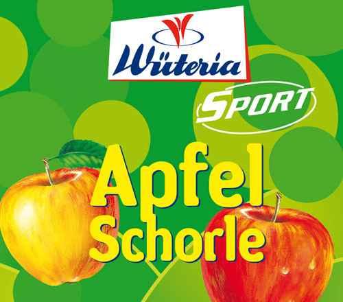 Wüteria Mineralwasser Apfelschorle Sport