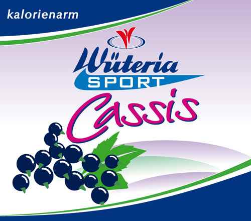 Wüteria Mineralwasser Cassis Sport