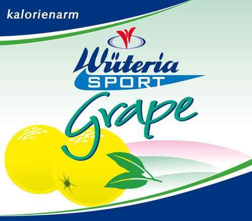 Wüteria Mineralwasser Grape Sport