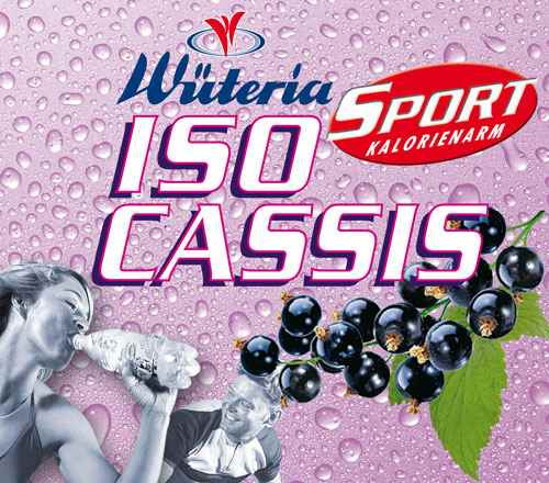 Wüteria Mineralwasser Iso Cassis Sport