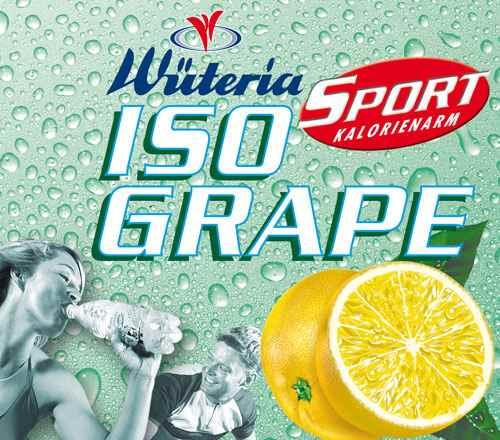 Wüteria Mineralwasser Iso Grape Sport