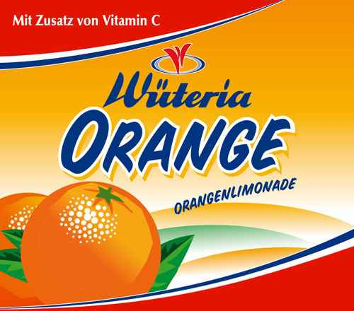 Wüteria Mineralwasser Orange