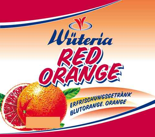 Wüteria Mineralwasser Red Orange