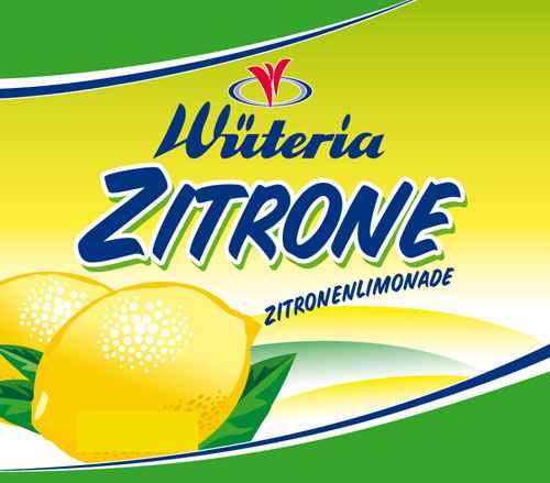Wüteria Mineralwasser Zitrone