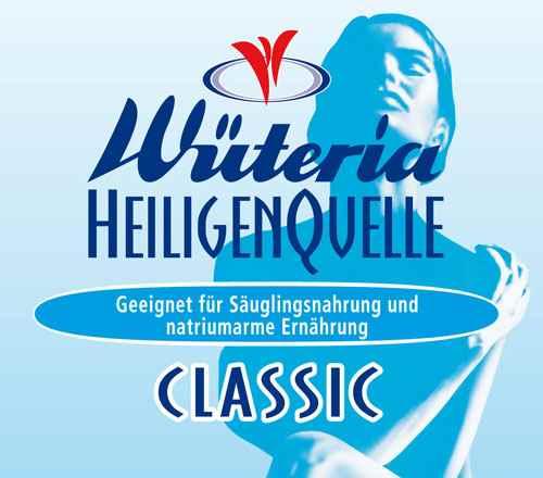 Wüteria Mineralwasser Heiligenquelle Classic