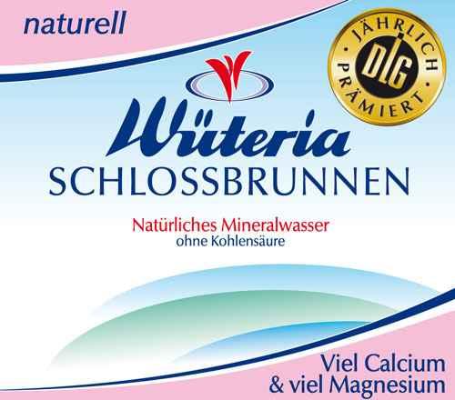 Wüteria Mineralwasser Schlossbrunnen Naturell