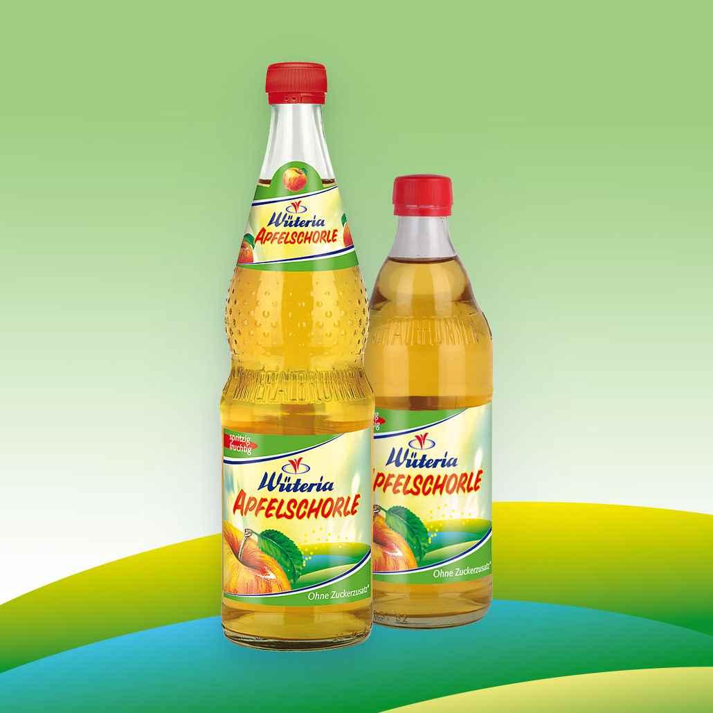Wüteria Mineralwasser Apfelschorle