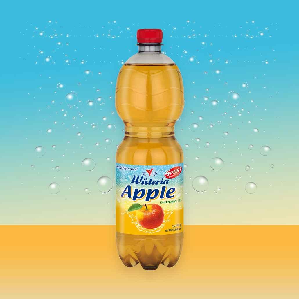 Wüteria Mineralwasser Apple Sport