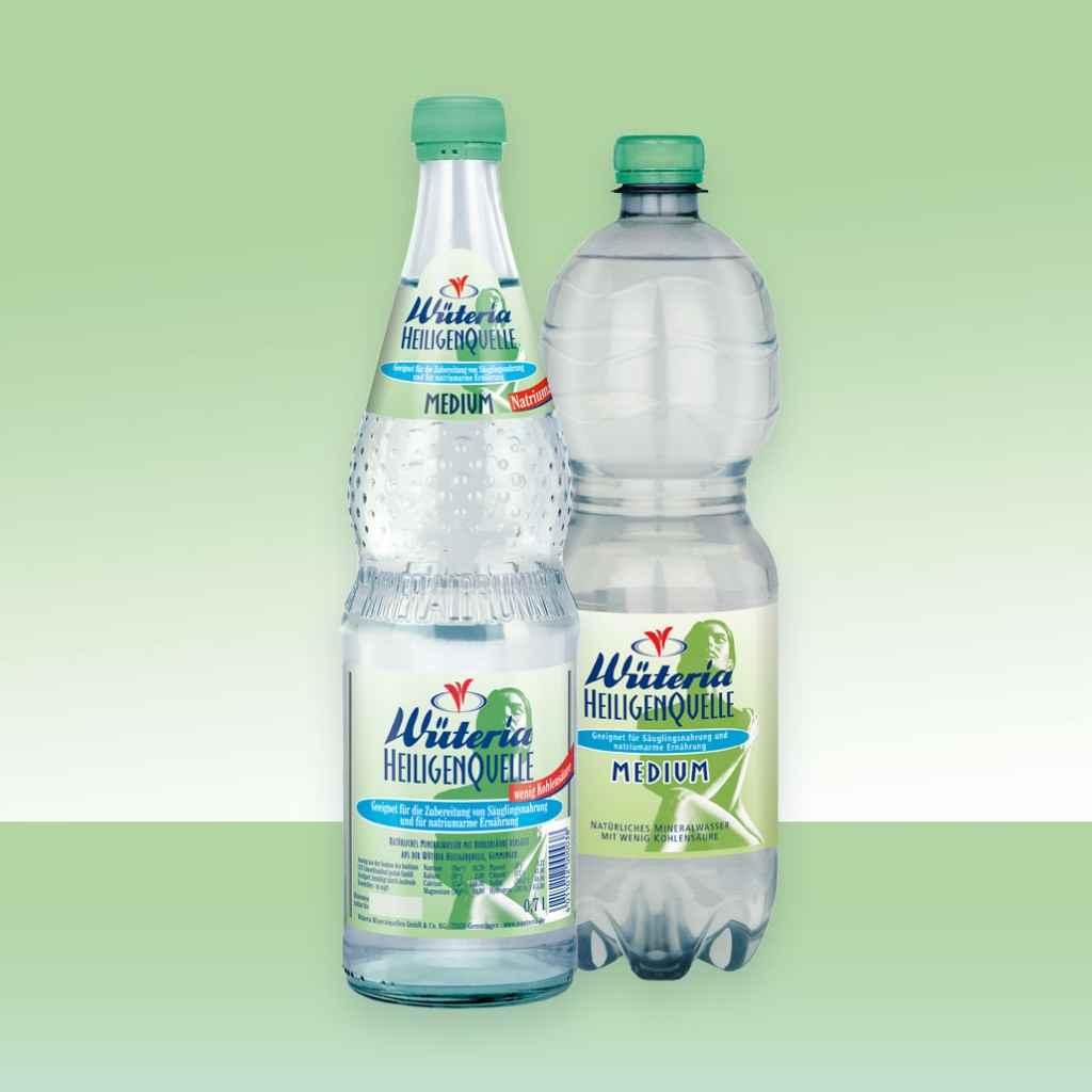 Wüteria Mineralwasser Heiligenquelle Medium
