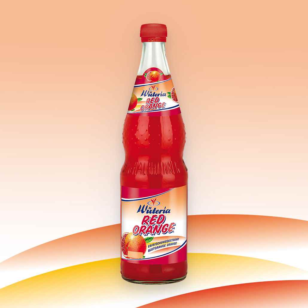 Wüteria Mineralwasser Limonade Red Orange