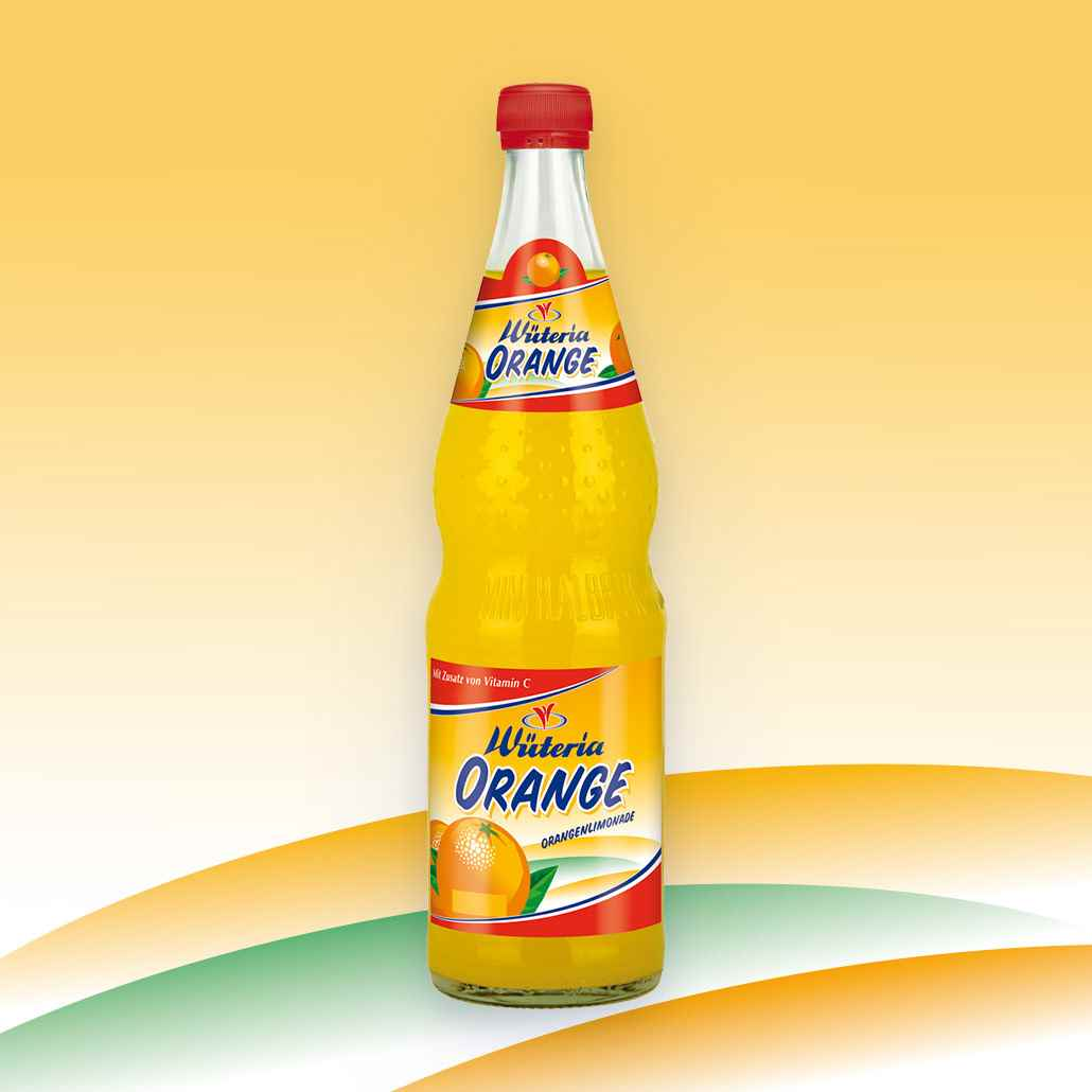 Wüteria Mineralwasser Limonade Orange
