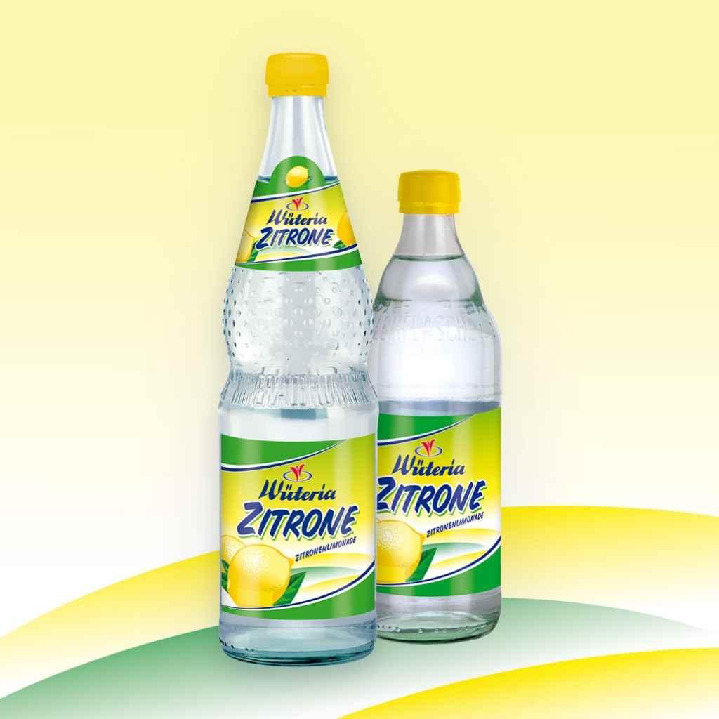 Wüteria Mineralwasser Limonade Zitrone