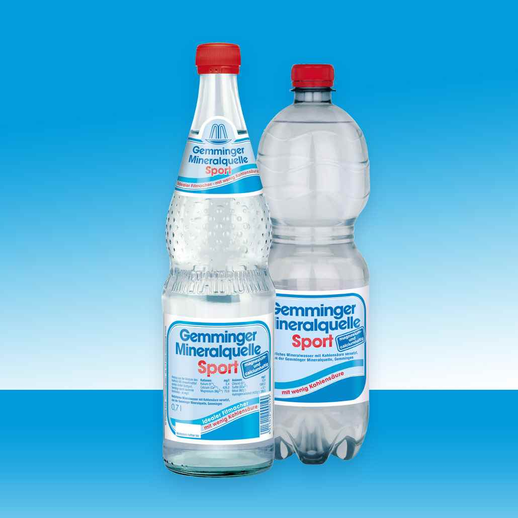 Gemminger Mineralwasser - Mineralquelle Sport