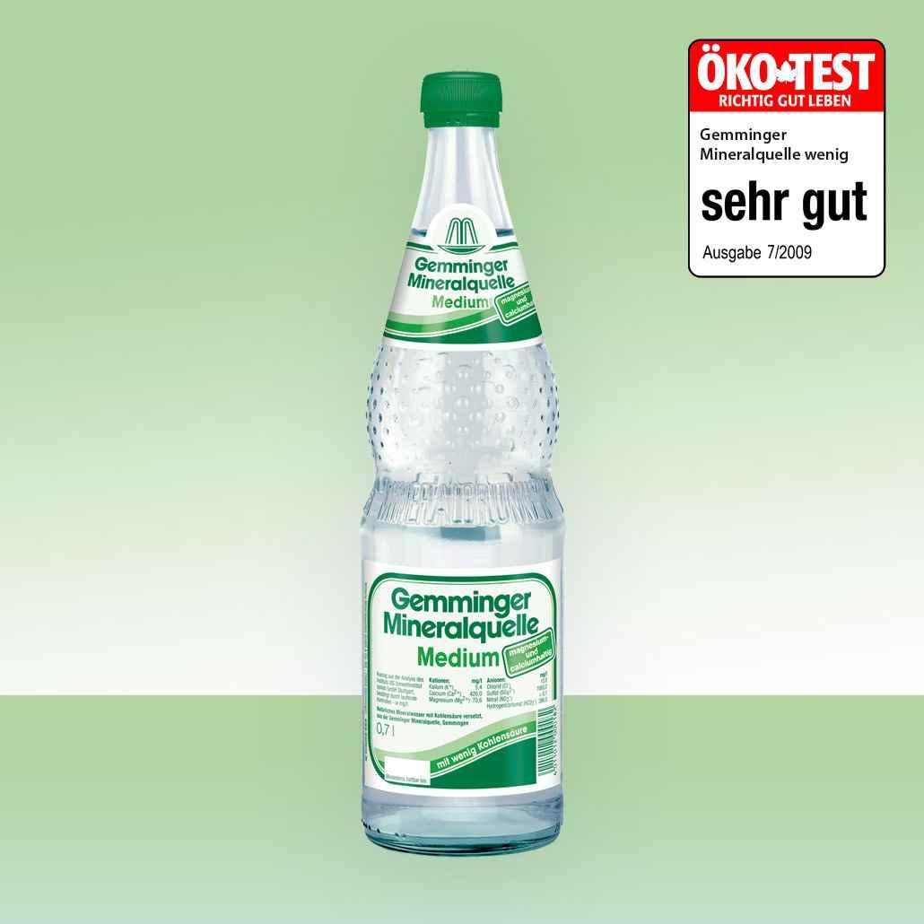 Gemminger Mineralwasser - Mineralquelle Medium