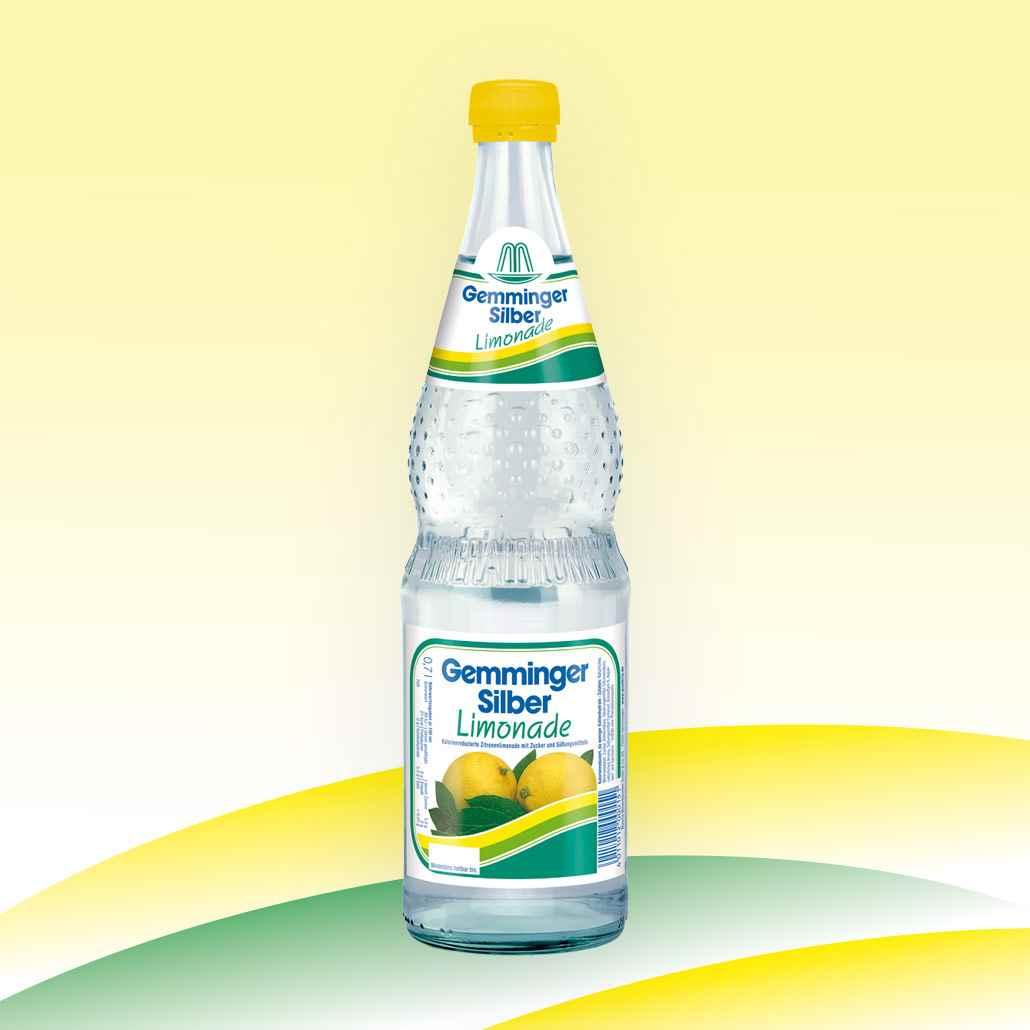 Gemminger Mineralwasser - Mineralquelle Limonade Silber