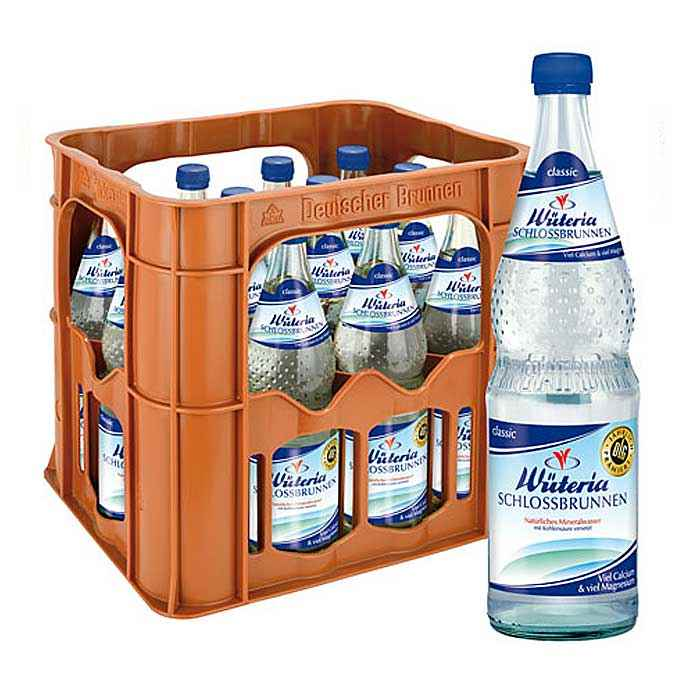 Wüteria Mineralwasser von der quelle auf den Tisch Verkauf