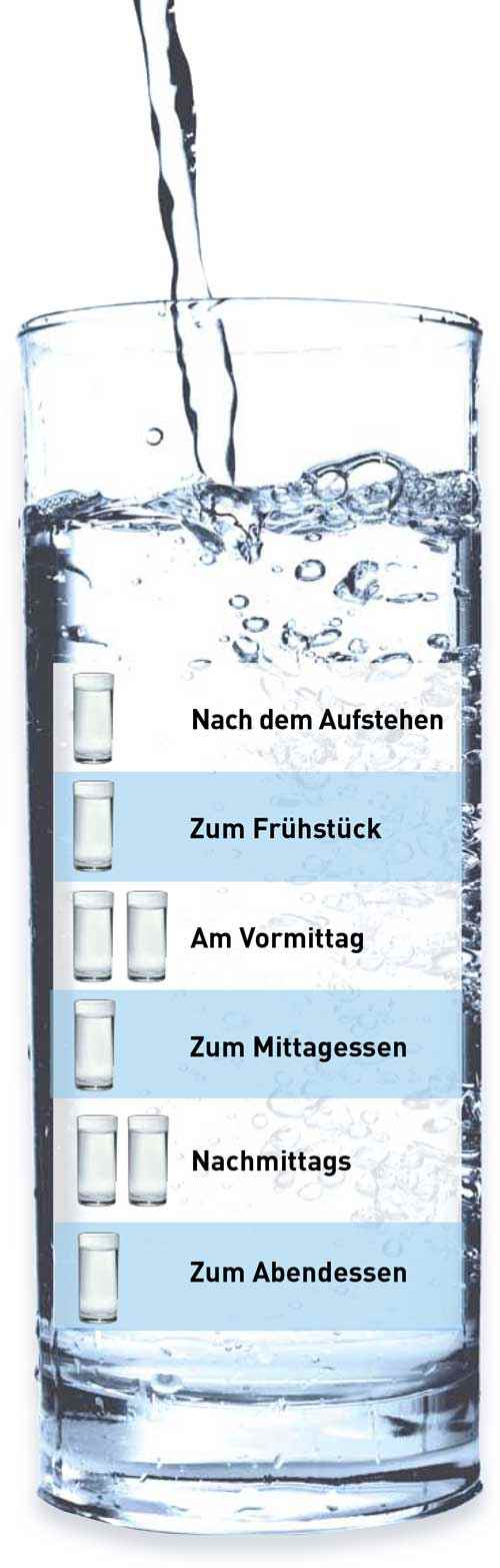 Wüteria Mineralwasser Trinkplan