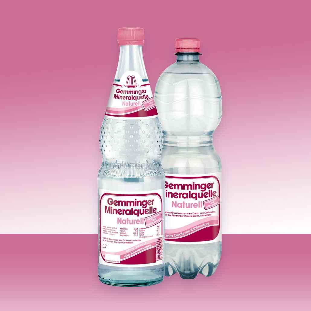 Gemminger Mineralwasser ohne Kohlensäure