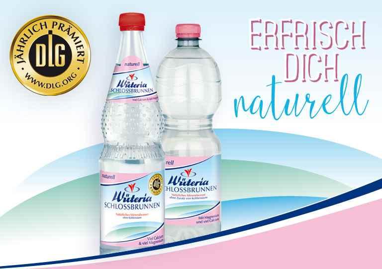 Wüteria Schlossbrunnen naturell - Mineralwasser ohne Kohlensäure