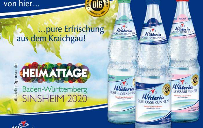 Wüteria Mineralquellen Gemmingen - Sponsor der Heimattage Sinsheim 2020